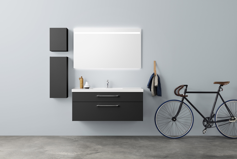 A120 Spegel Med Infälld Ovanbelysning - Aspen