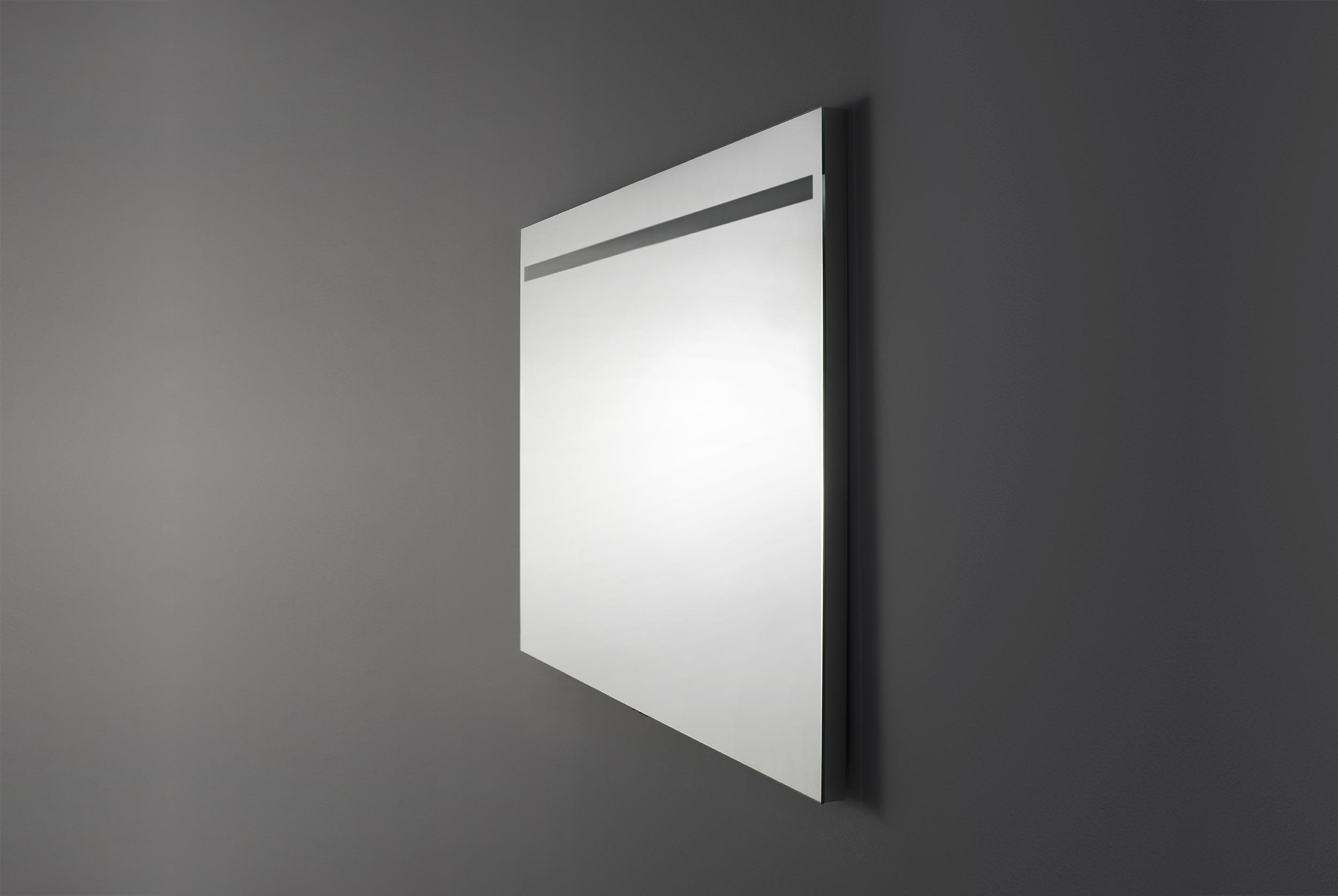 A120 spegel med infälld ovanbelysning   aspen