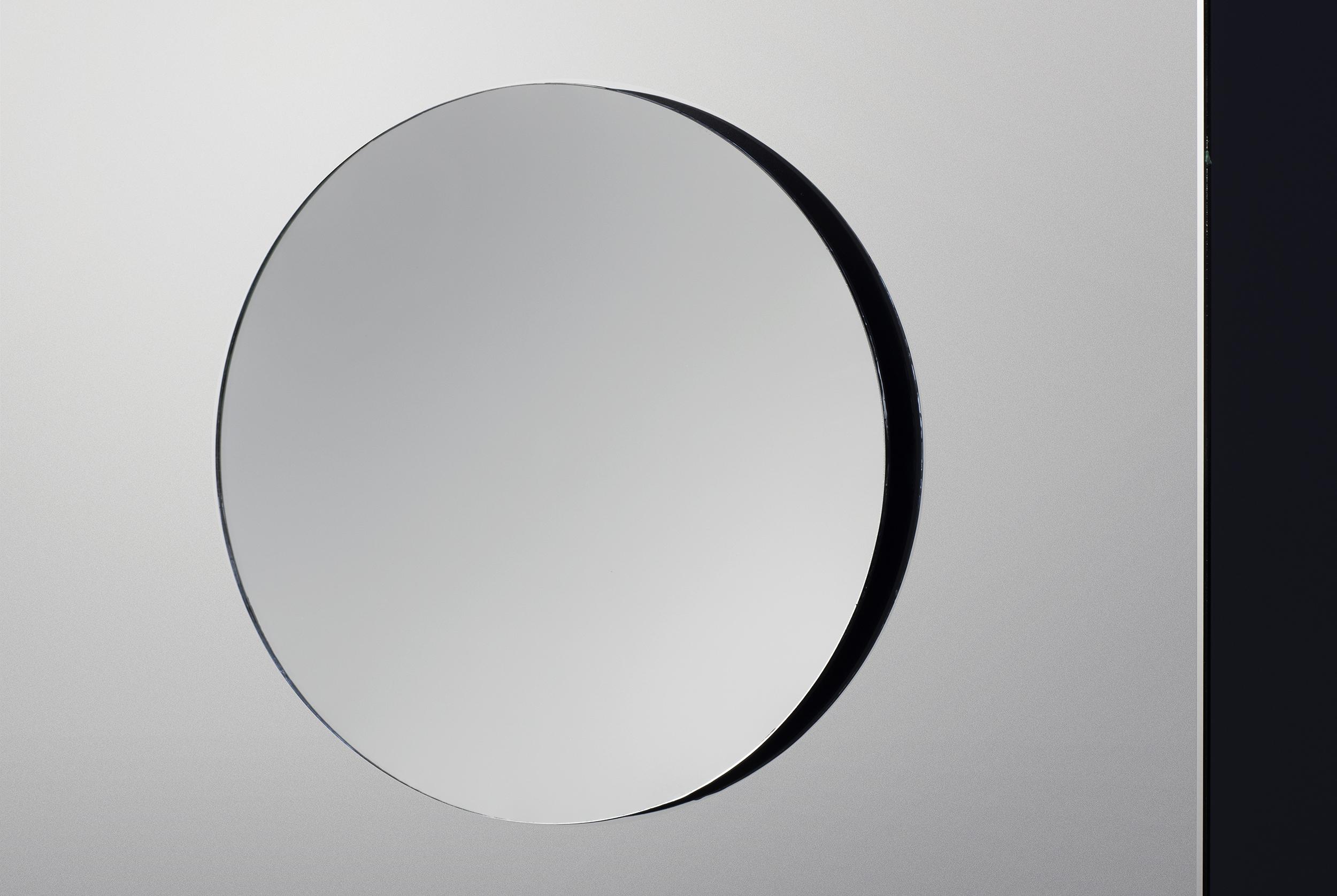 A120 spegelskåp med infälld ovanbelysning   aspen