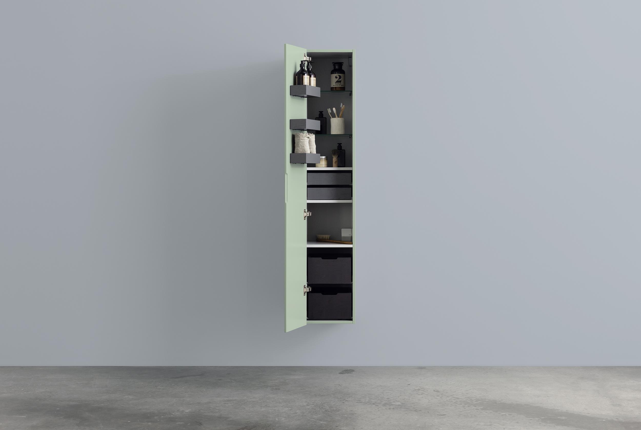 A högskåp 300*1600, med hyllor, lådor, dörrfack & smyckes ...