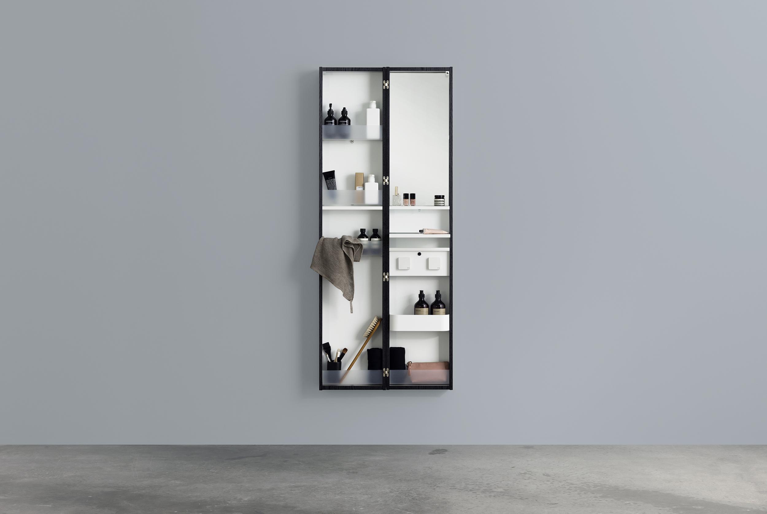 A spegelförvaring dubbel   aspen